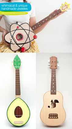 Unusual ukuleles (@ivyarch have you seen these?)