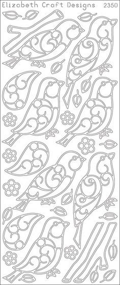 Birds And Branches Peel Off Stickers, Black
