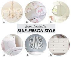 Fromthestudio-Blue-ribbonstyle - Harper Monogram letters (Pottery Barn)