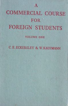 A commercial course for foreign students Vol. one C. Commercial, Students, Ebay, Economics