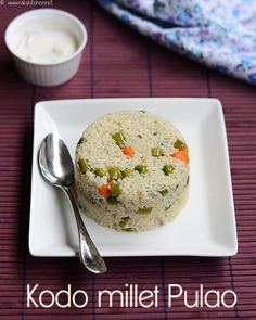 Healthy kodo millet pulao recipe, with step by step pictures. Learn how to cook millets fluffy for pulao!