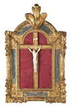 Escuela francesa de Dieppe del siglo XIX Cristo crucificado Marfil tallado