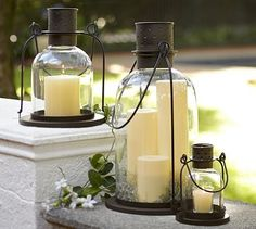 """Arches Lantern #potterybarn  Extra-Small Votive: 5.5"""" diameter, 6.5"""" high;   Small: 10"""" diameter, 13"""" high; holds our 3"""" x 3""""   Large: 10.5"""" diameter, 19.5"""" high; holds our 4"""" x 8"""""""