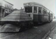 Tram en route to Rozelle with counterweight. 1952