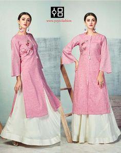 Pink Heavy Party Wear Pure Handloom Readymade Kurti With Palazzo Diwali Dresses, Diwali Outfits, Long Choli Lehenga, Kurta Skirt, Fancy Kurti, Online Shopping Sarees, Kurta Neck Design, Bollywood Dress, Indian Ethnic Wear