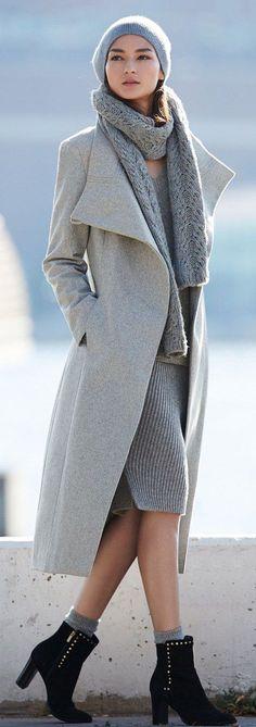 Winter Chic | Shades Of Soft Grey.