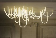 To know more about Mathieu Lehanneur Les Cordes chandelier, visit Sumally, a social network that gathers together all the wanted things in the world! Featuring over 21 other Mathieu Lehanneur items too! Neon Lighting, Interior Lighting, Home Lighting, Lighting Design, String Lighting, Unique Lighting, Green Design, Mathieu Lehanneur, Luminaire Original