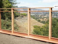 Love the idea of using a fence like this for a dog run especially for my collie that love to climb.