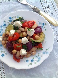 PipFoods :: Salade met kikkererwten en gegrilde groente