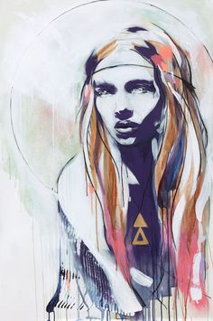 "Saatchi Online Artist: Hannah Adamaszek; Acrylic 2013 Painting ""Wild Rose"""