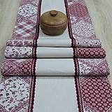 dekoračný obrus, stredový behúň, dlhý obrus bordó Home Textile, Textiles, Scrappy Quilts, Fabrics, Textile Art