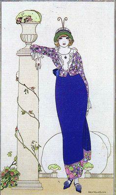Plate for Journal des Dames et des Modes by Brunelleschi, 1913 by Silverbluestar