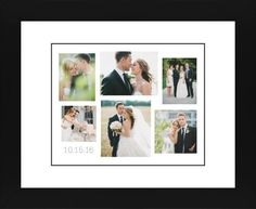 Gallery Collage of Six Framed Print, Black, Contemporary, Black, White, Single piece, 8 x 10 inches