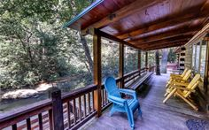 Wow!  Right on the river!  you don't see that any more.  Sliding Rock Cabins, Ellijay GA.