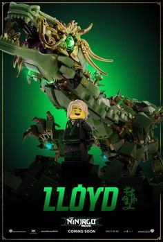 The Lego Ninjago Movie poster - 11 x 17 inches - Lego poster - Lloyd Ninjago Dragon, Lego Dragon, Ninjago Party, Lego Ninjago Movie, Lego Kai, Lloyd Ninjago, Ninjago Memes, Funny Videos For Kids, Movie Teaser