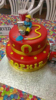 Fireman sam cake #fireman #sam #episodes Fireman Sam Cake, Cupcake Cakes, Cupcakes, Graham, Birthdays, Birthday Cake, Parties, Desserts, Kids