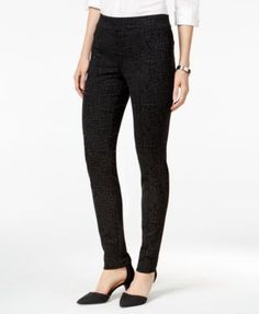 Style & Co. Petite Stretch Ponte Leggings, Created for Macy's - Brown P/XS