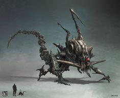 Mutant Concept Art for Epic Games , James Paick on ArtStation at https://www.artstation.com/artwork/wrln9