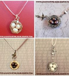 wire wrapped bird nest necklace - this may be my favorite diy necklace every 'cause I love bird nests