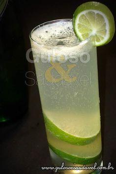 Limonada Gaseificada » Bebidas, Receitas Saudáveis » Guloso e Saudável