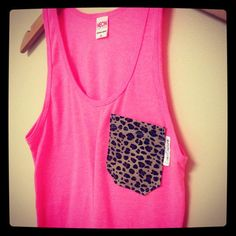 Neon+Pink+and+Leopard+Tank++by+CoastCouture+on+Etsy