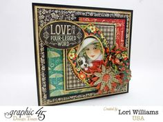 Lori Williams Designing for Graphic 45 Raining Cats and Dogs Collection dimension card photo 1