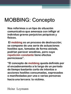 ... MOBBING. http://es.slideshare.net/Ythamar/acoso-laboral-diapositivas