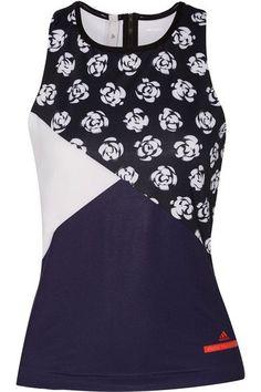 Adidas by Stella McCartney - Printed Climalite Stretch Tank - Midnight blue