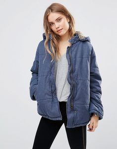 Free People Quilted Denim Jacket