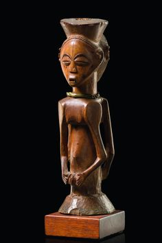 "Lot : Janiform figure ""kabeja""  - D. R. Congo, Luba  -   - wood, honey brown[...] 
