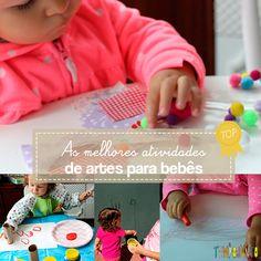 As 7 melhores atividades de artes para bebês de 18 a 24 meses reunidas num único post. Tem pintura, desenho, colagem pra você fazer com…