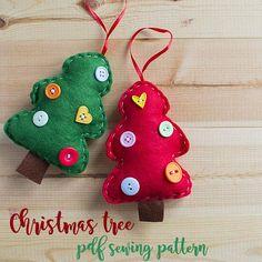 Christmas tree PDF sewing pattern felt Christmas ornament