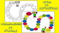 Juegos de matemáticas para imprimir - Web del maestro Symbols, Peace, Numbers, Mental Calculation, School Murals, School Projects, Activities, Flowers, Sobriety
