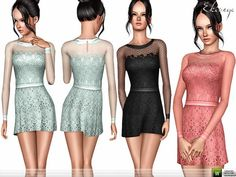 Butterfly Dress by ekinege - Sims 3 Downloads CC Caboodle