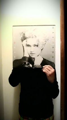 Sleeveface - people holding vinyl record sleeves and covers in front of their faces - Part 2 Dear Photograph, Vinyl Sleeves, Vinyl Cover, Art For Art Sake, Vinyl Art, Art Images, Madonna, Album Covers, Vinyl Records