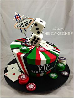 Las Vegas Cake #travel #cake #birthdaycake