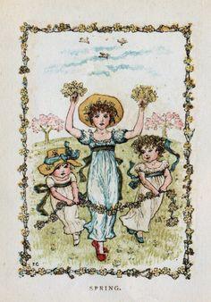 Free Antique Clip Art: Four Seasons Illustrations from 1883 Almanack