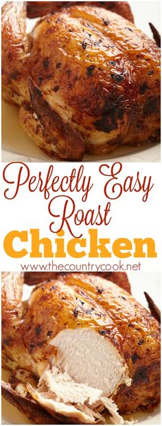Perfect Roast Chicken recipe from The Country Cook
