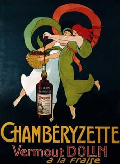 Add a fun burst of style to your bar or kitchen when you display the Global Gallery Chamberyzette Canvas Wall Art. This fun illustration pays tribute to the history of French advertising in a whimsical way. Vintage Advertisements, Vintage Ads, Vintage Posters, Retro Advertising, Retro Ads, Vintage Artwork, Vintage Illustrations, Vintage Ephemera, French Vintage