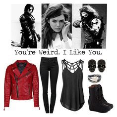 """""""You're Weird - Avengers - Scarlet Witch & The Winter Solider"""" by aliiceroseee ❤ liked on Polyvore featuring RVCA, Proenza Schouler, Jeffrey Campbell, Olsen and Tessa Metcalfe"""