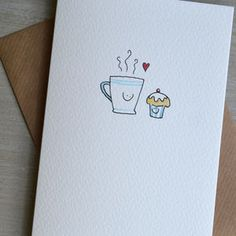 Personalised 'Coffee Loves Cake' Valentines Card