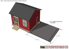 CB201 - Combo Plans - Chicken Coop Plans Construction   Garden Sheds Plans - Storage Sheds Plans Construction CB201 - Combo Plans ...
