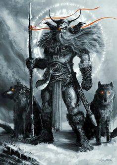 Norse God Odin, the Allfather ( Greek God Zeus and Roman God Jupiter ).