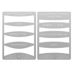 HattieS QuikArt Metal Clay Template Set, Plain Ring Shanks
