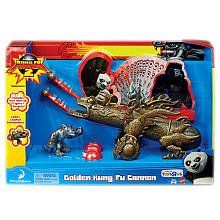 Kung Fu Panda 2 Exclusive Playset Golden Kung Fu Cannon Includes Wolf Warrior Figure >>> For more information, visit image link.