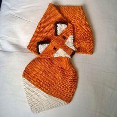 patron tricot echarpe renard