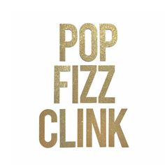 Pop Fizz Clink Banner Sign // Bridal Shower Banner Decor // Bachelorette Banner // New Years Eve Bar Decoration