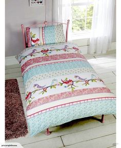 Little Birdies Single Duvet Cover and Pillowcase for sale on Trade Me, New Zealand's auction and classifieds website Girls Duvet Covers, Duvet Cover Sets, Ready Bed, Kids Bedroom Furniture, Bedroom Ideas, Bed Lights, Little Birdie, Single Duvet Cover, Shabby Chic Bedrooms