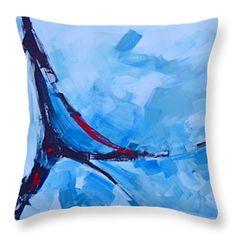 "Serendipity  Throw Pillow 14"" x 14""  #throwpillow #homedecor #bluehues"