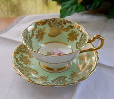 vintage teacups | Vintage Paragon Teacup and Saucer Tea Cup and Saucer by cyndalees
